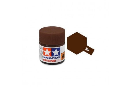 Tamiya X-9 Brown Gloss Acrylic Paint 10ml