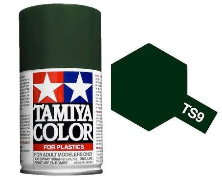 Tamiya TS-9 British Green Lacquer Spray Paint 100ml #T85009