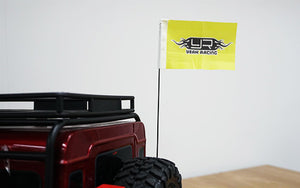 YEAH RACING Metal Antenna w/ Flag For Traxxas TRX-4 #TRX4-052