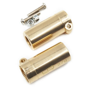 AXSC-007 | Yeah Racing SCX10 II High Mass Brass Left & Right Straight Axle Adapters 2Pcs