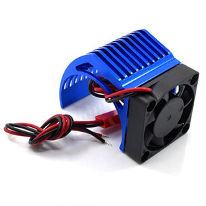 ALUMINUM 540 MOTOR HEAT SINK W/ COOLING FAN BLUE #YA-0411BU