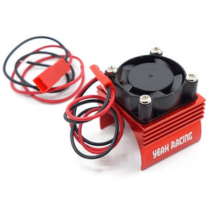 ALUMINUM 380 MOTOR HEAT SINK W/ COOLING FAN RED #YA-0461RD
