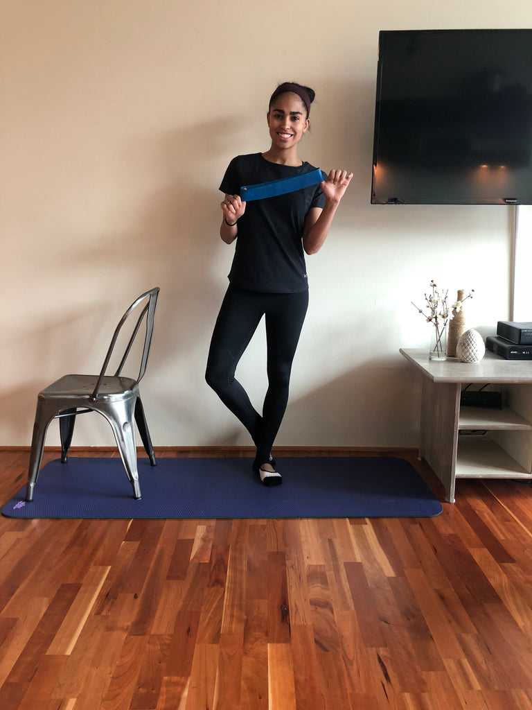 At Home Resistance Band Barre Workout with Britany Williams
