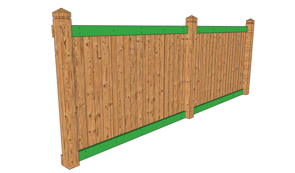 Fence inside rails