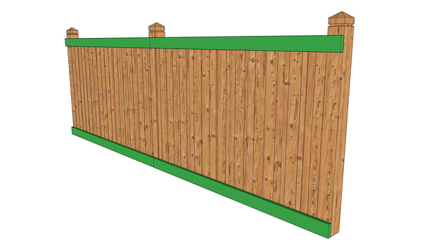 Fence outside rails