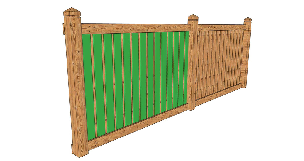 Staggered fence boards