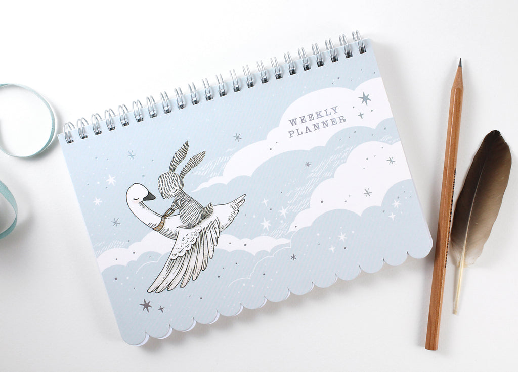 Weekly Planner - Rabbit & Swan