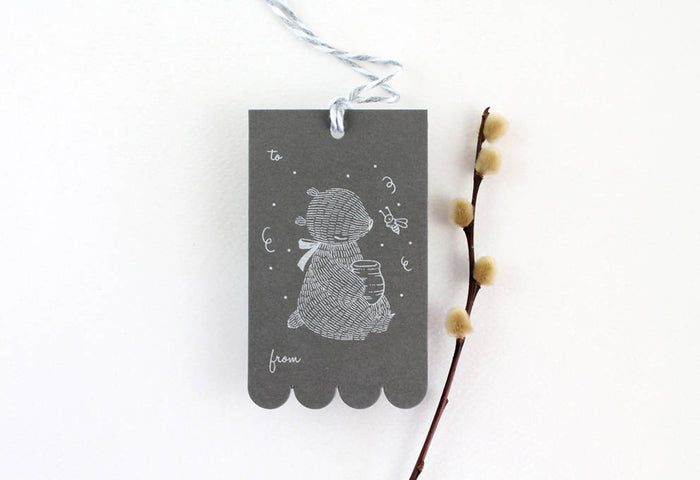 10 Gift Tags - Bear & Honeypot