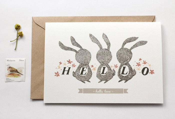 50% OFF - Hello Love - Greeting Card