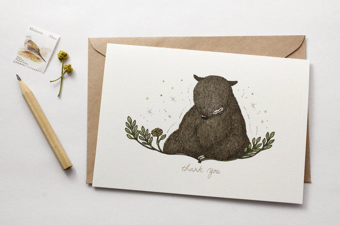 Thank You, Bear - Greeting Card