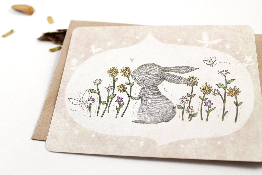 30% OFF - 10 Notecards - I Love Spring Time