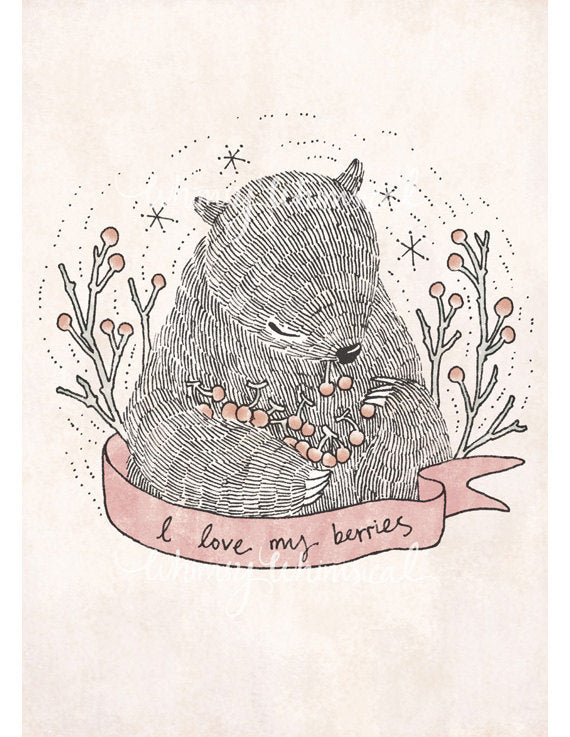 I love my berries - 5x7 Print
