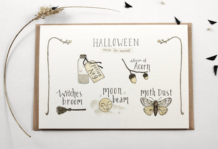 Halloween Secret Recipe - Greeting Card