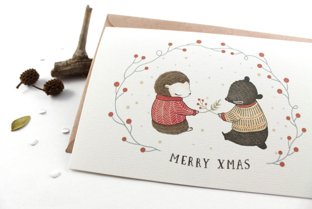 50% OFF - Christmas Card - Merry Xmas - Greeting Card