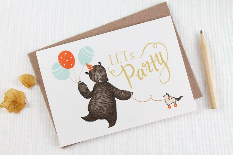 Let's Party - Greeting Card