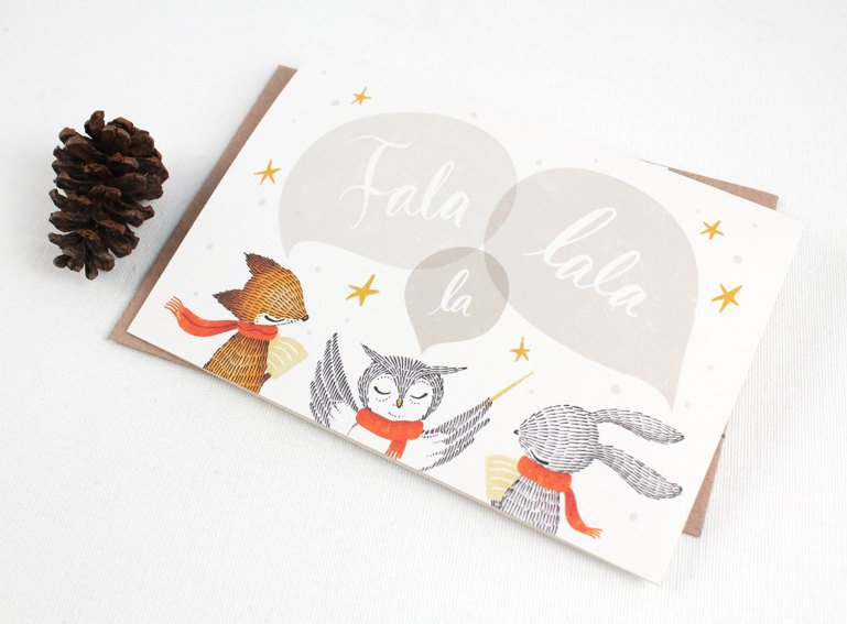 Christmas Card - Fala Lala La - Greeting Card