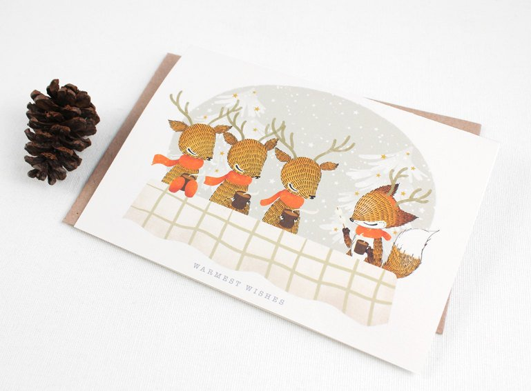 Christmas Card - Warmest Wishes - Greeting Card