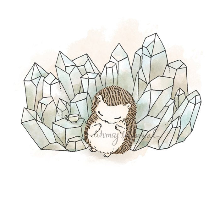 Crystal Quartz III, Hedgehog - 5x5 Print