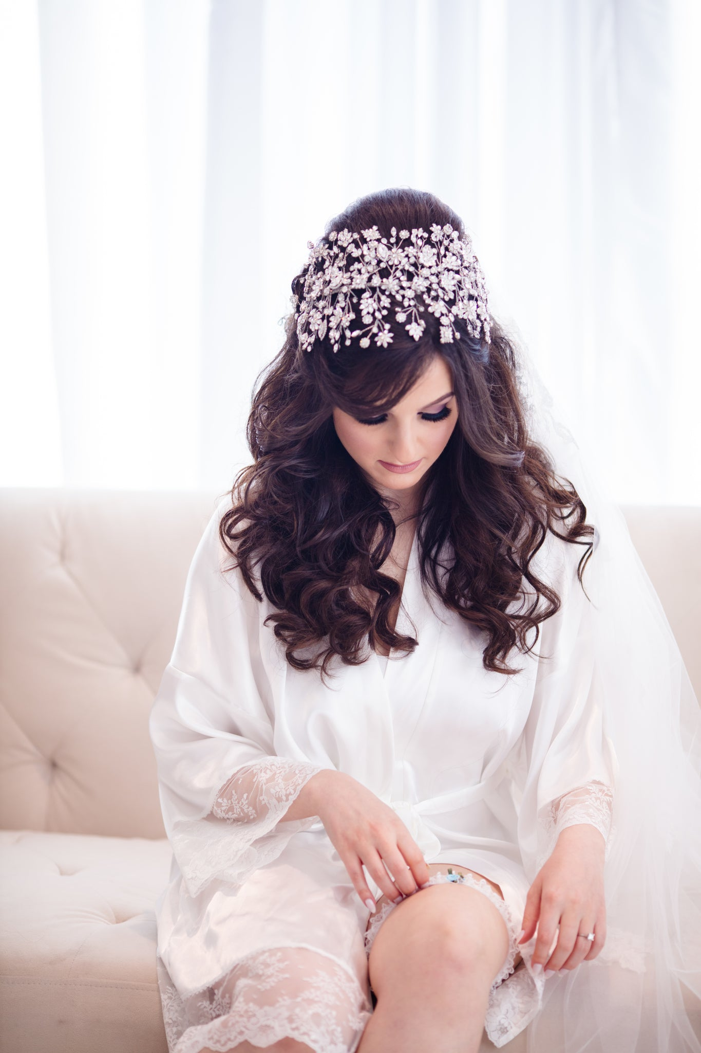 Bridal - Hair - Photography - Bride - Wedding - Jewelry - Headpiece - Crown - Tiara