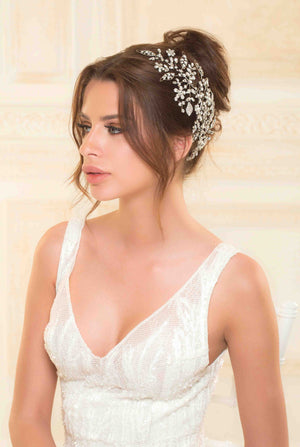 Boho Weddings - Snowflake Crystals - Lebanese Weddings - Simple Headpiece