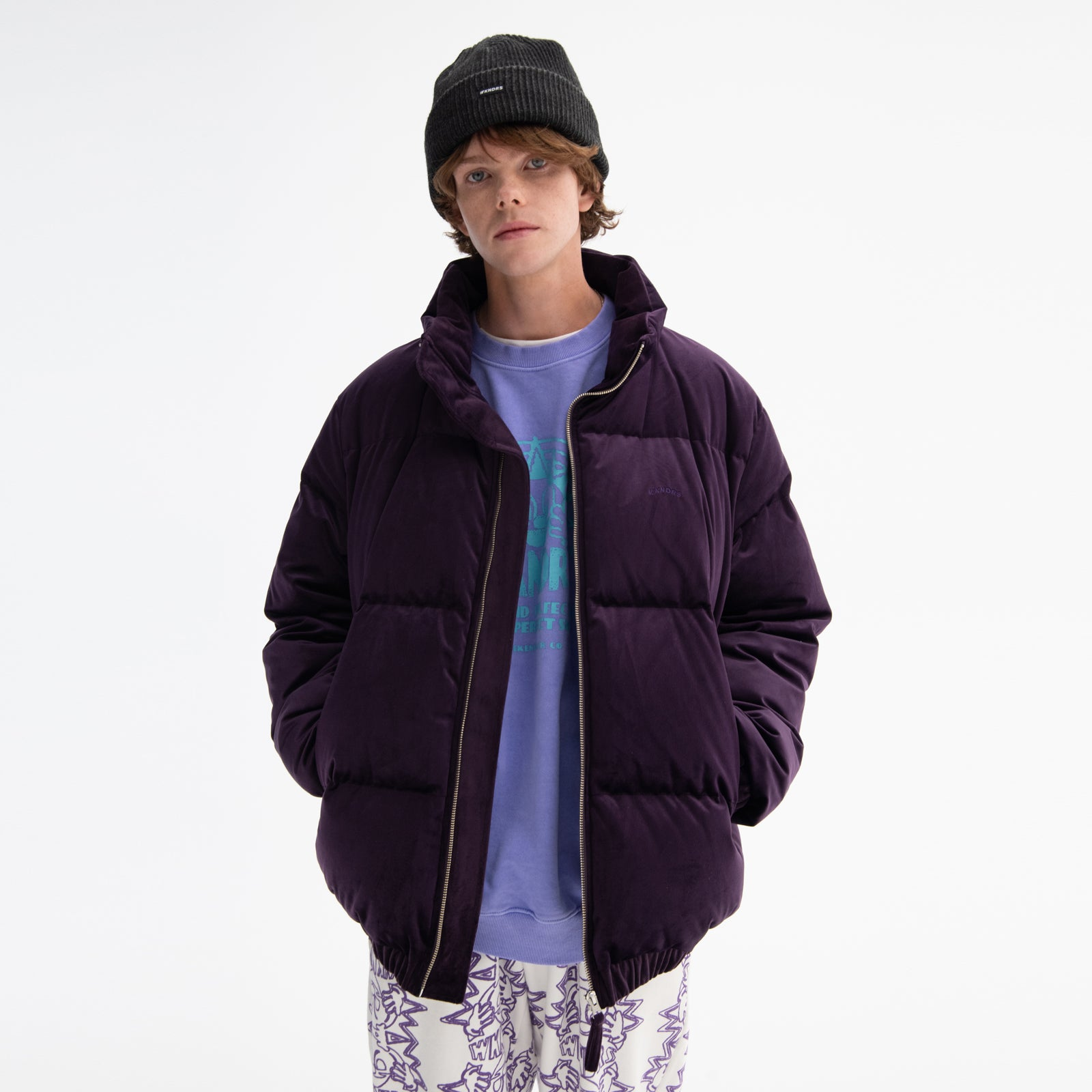[AFTER 26.Oct SHIPPING] VELVET DOWN JACKET (PURPLE)