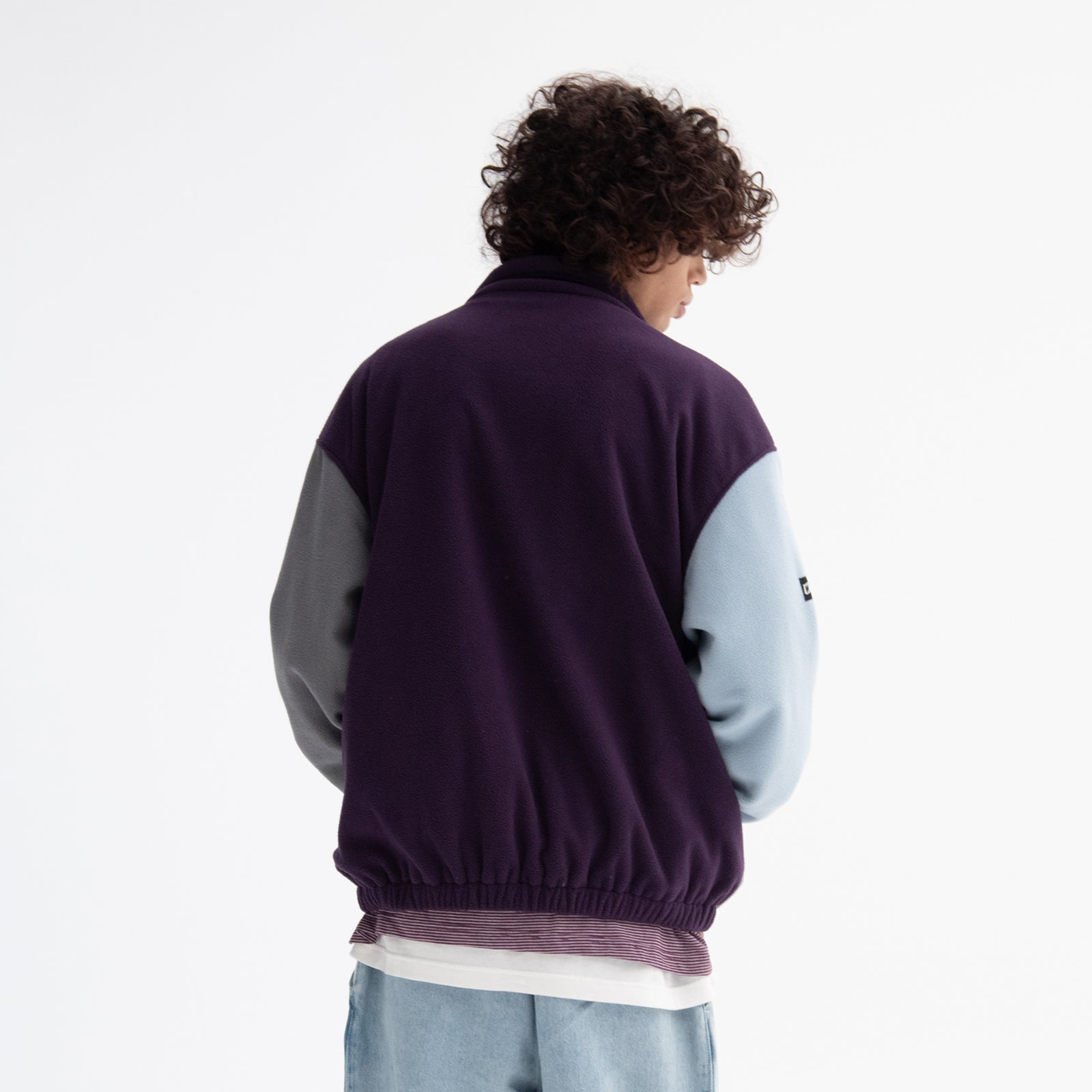 CUTTED FLEECE ZIPUP (PURPLE)