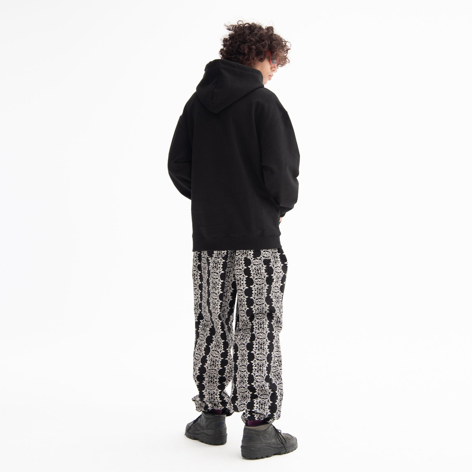 SMILE PATTERN PANTS (BLACK)
