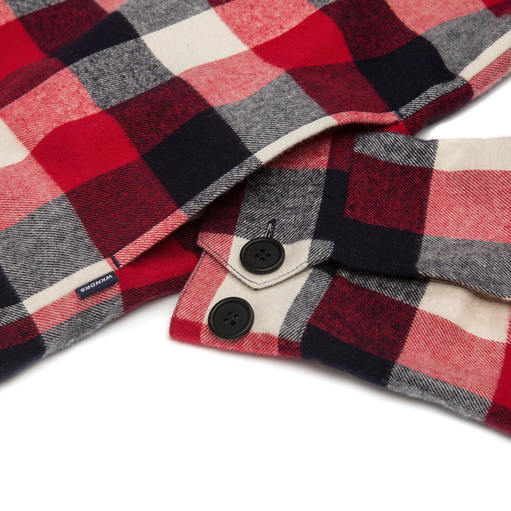PLAID COACH JACKET (RED)