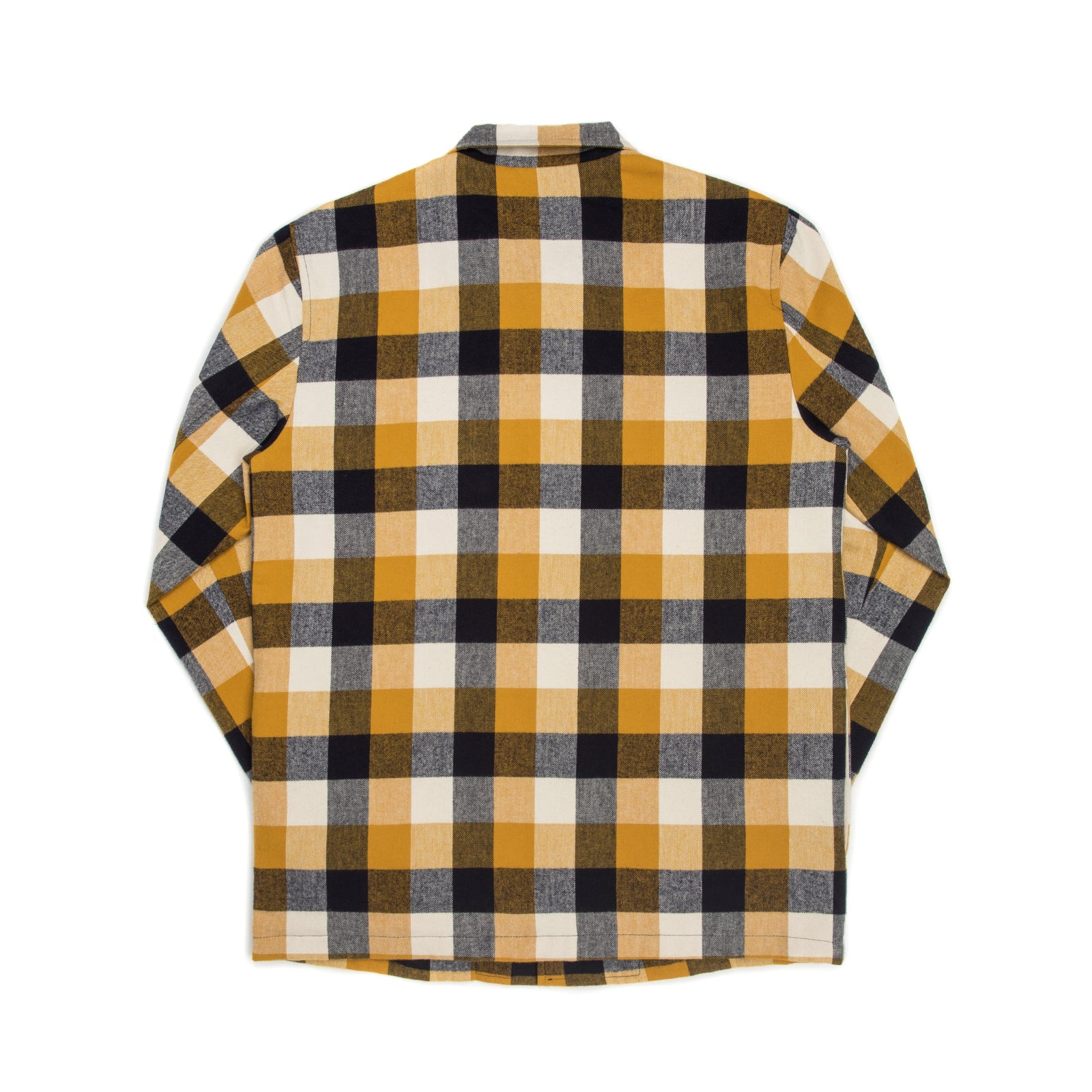 PLAID COACH JACKET (MUSTARD)