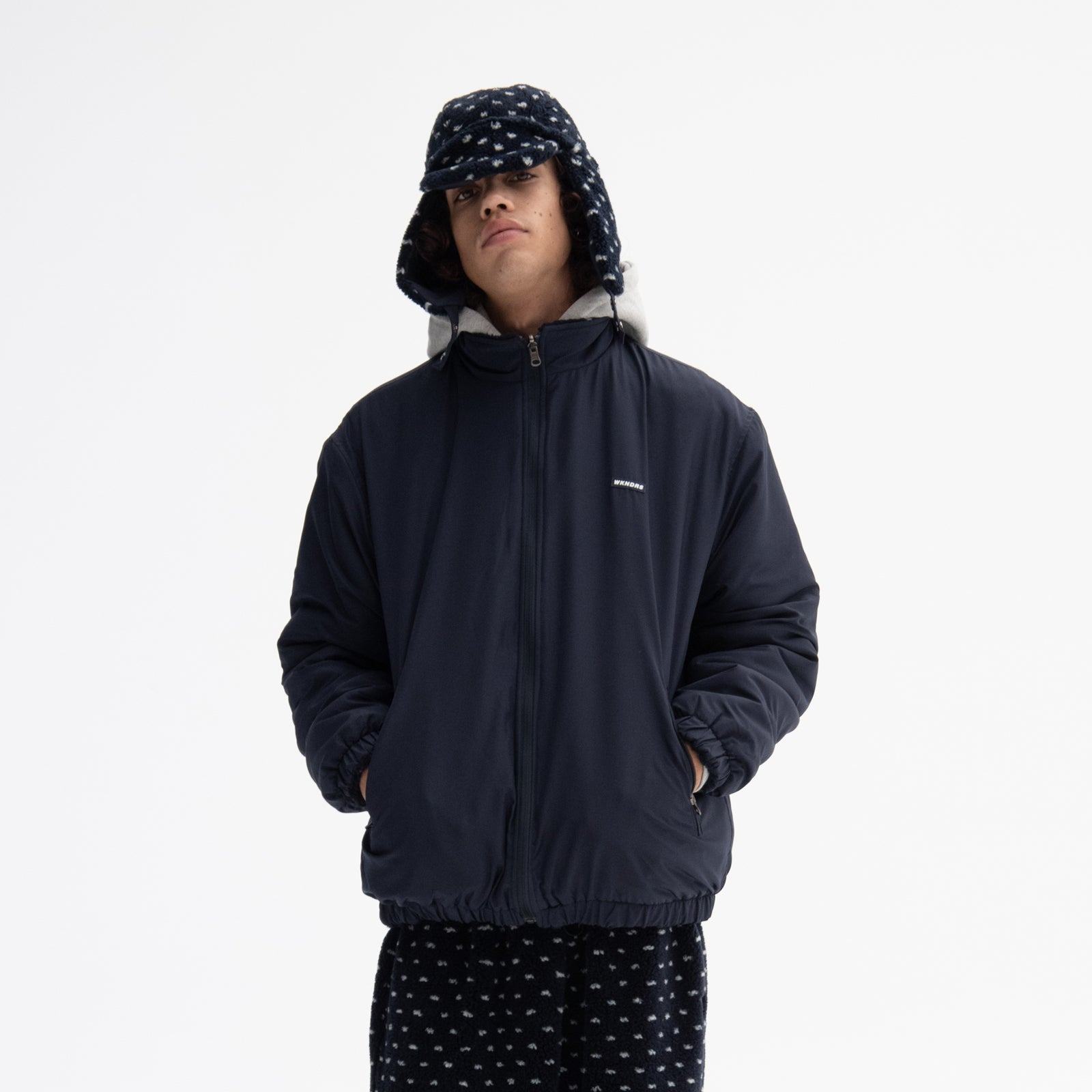 PIXEL REVERSIBLE DUMBLE JACKET (NAVY)