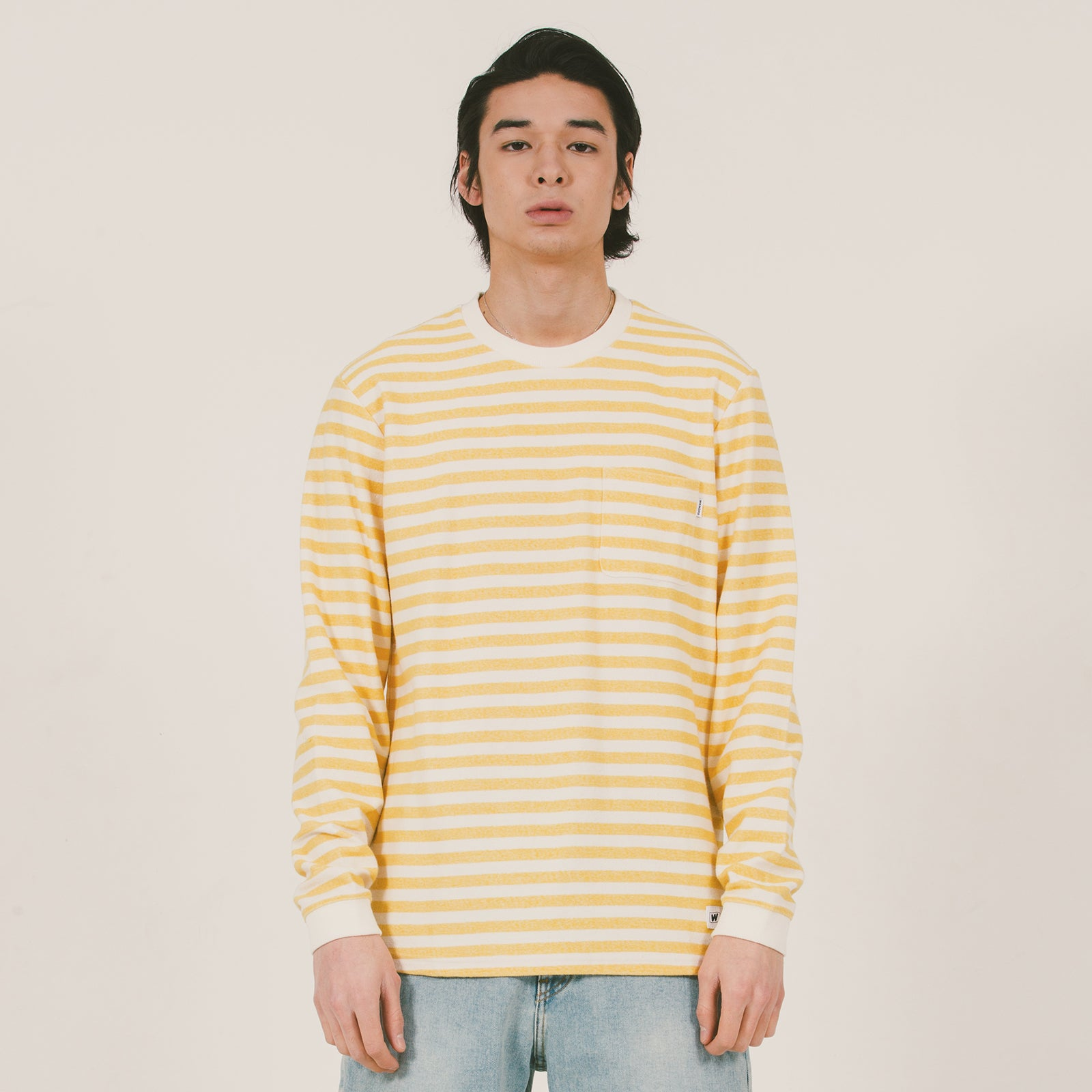 STRIPE LONGSLEEVE TEE (YELLOW)