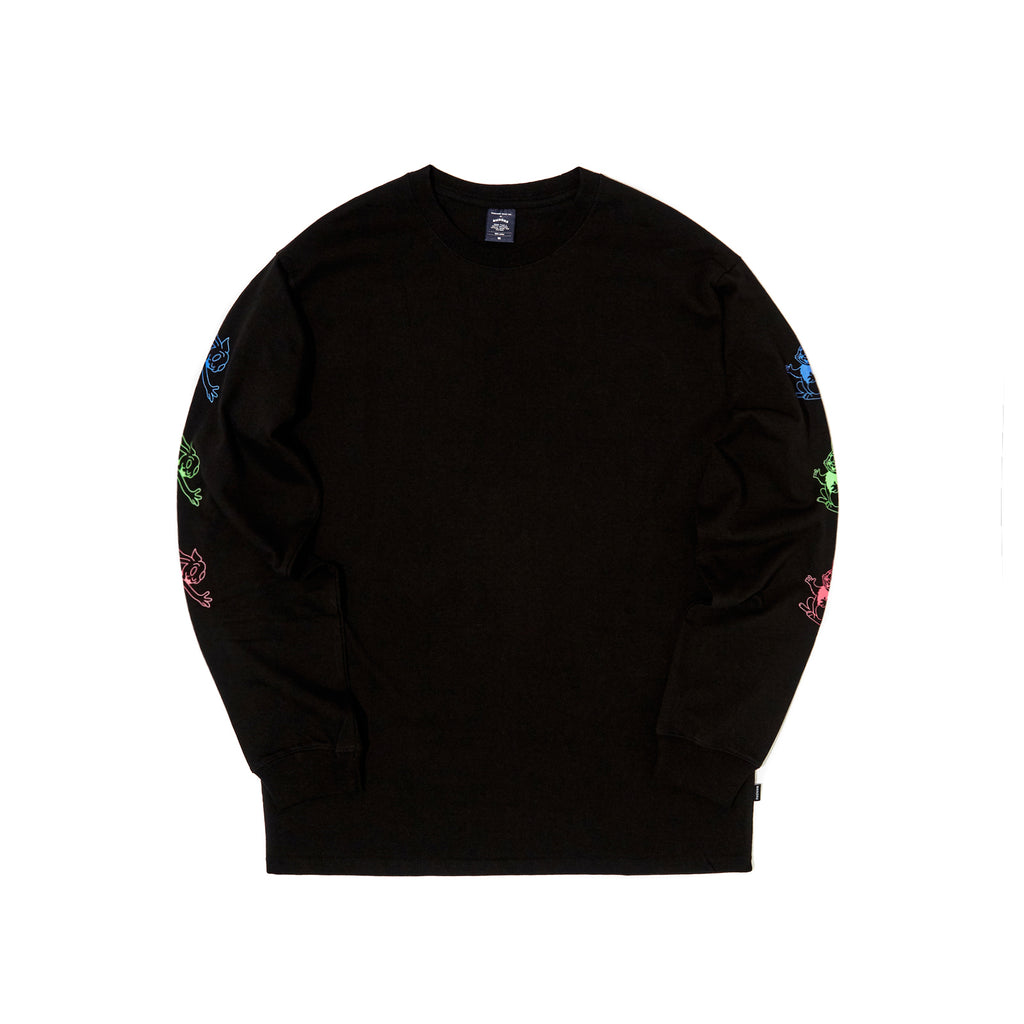 [OUT FOR DELIVERY-8.28]  L/S RABBIT TEE (BLACK)