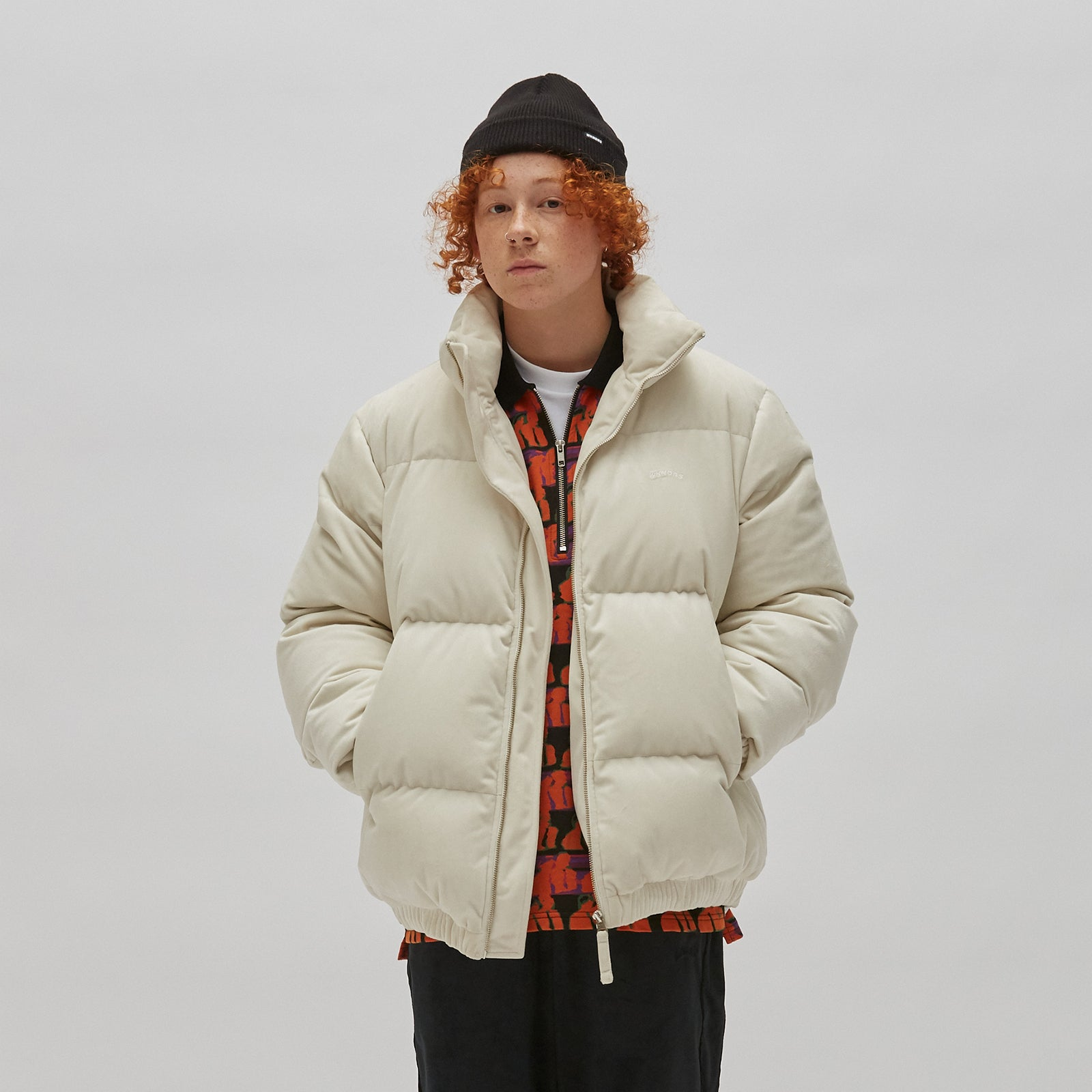 VELVET DOWN JACKET (WHITE)