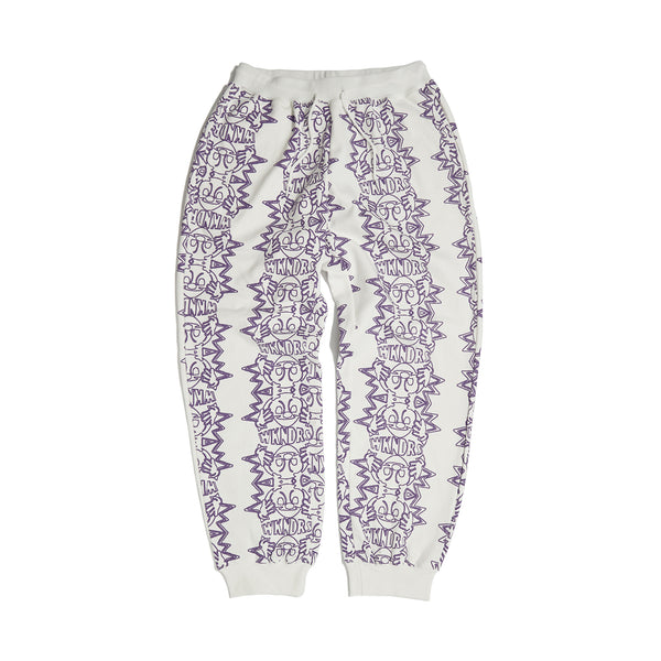 SMILE SWEAT PANTS (WHITE)