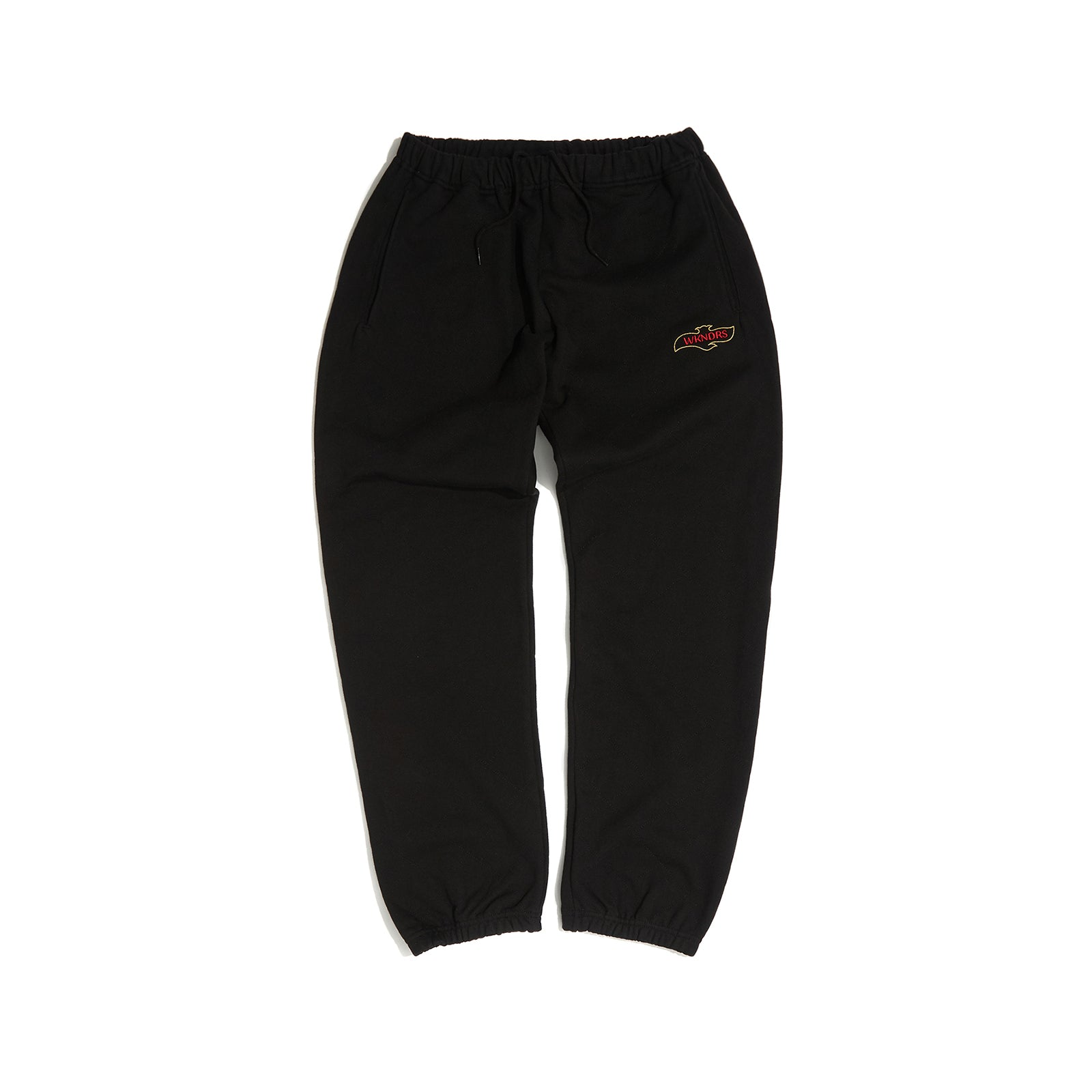 QUILTED SWEAT PANTS (BLACK)