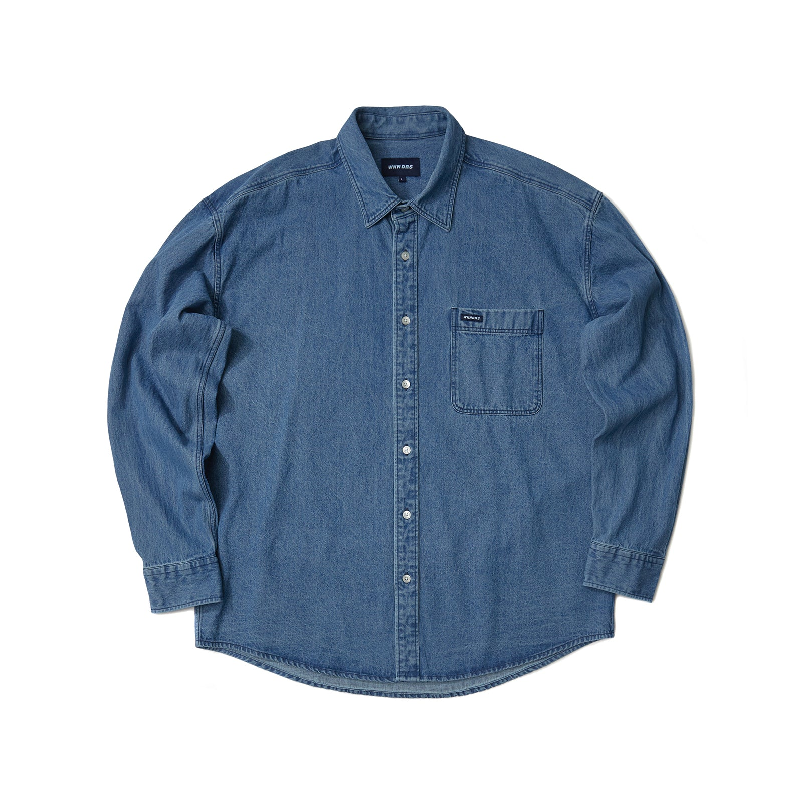 BASIC DENIM SHIRT (D.DENIM)