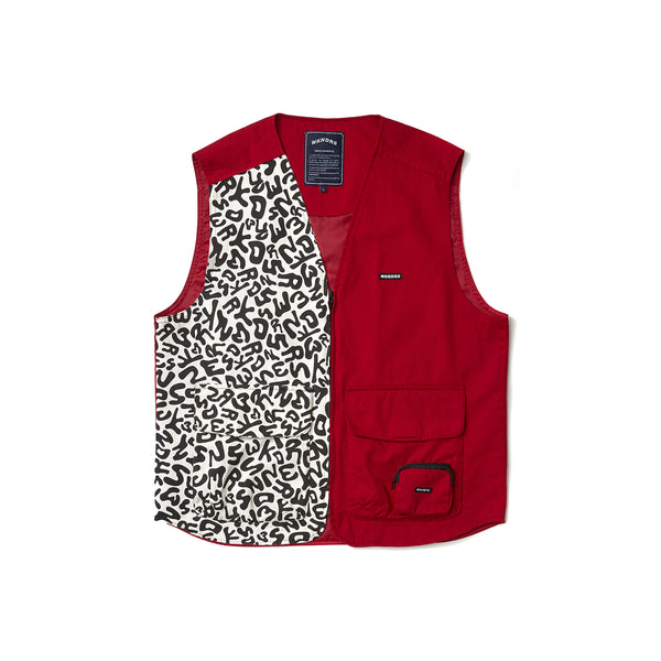 DRILL VEST ZIPUP (RED)
