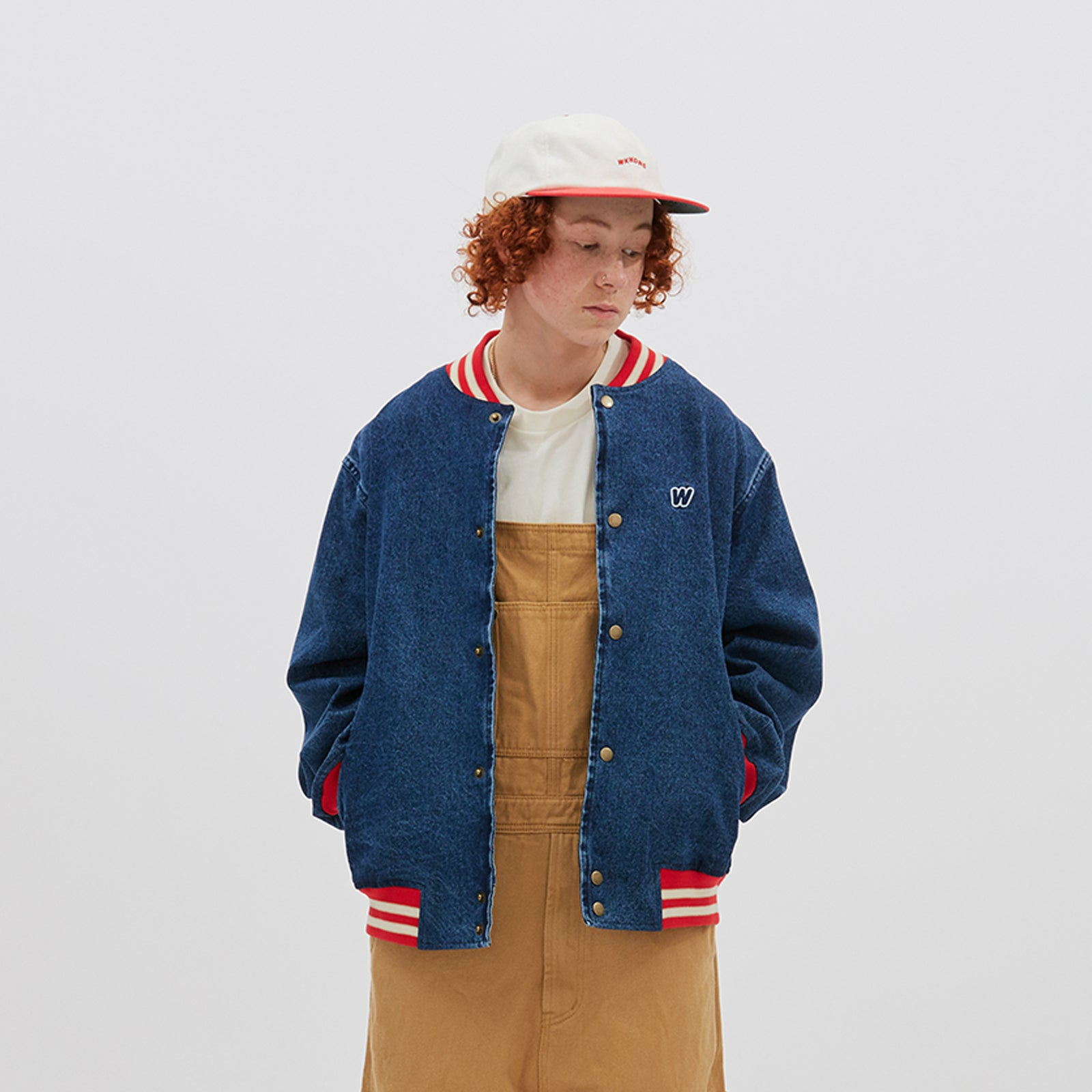 RETRO STADIUM JACKET (D.DENIM)