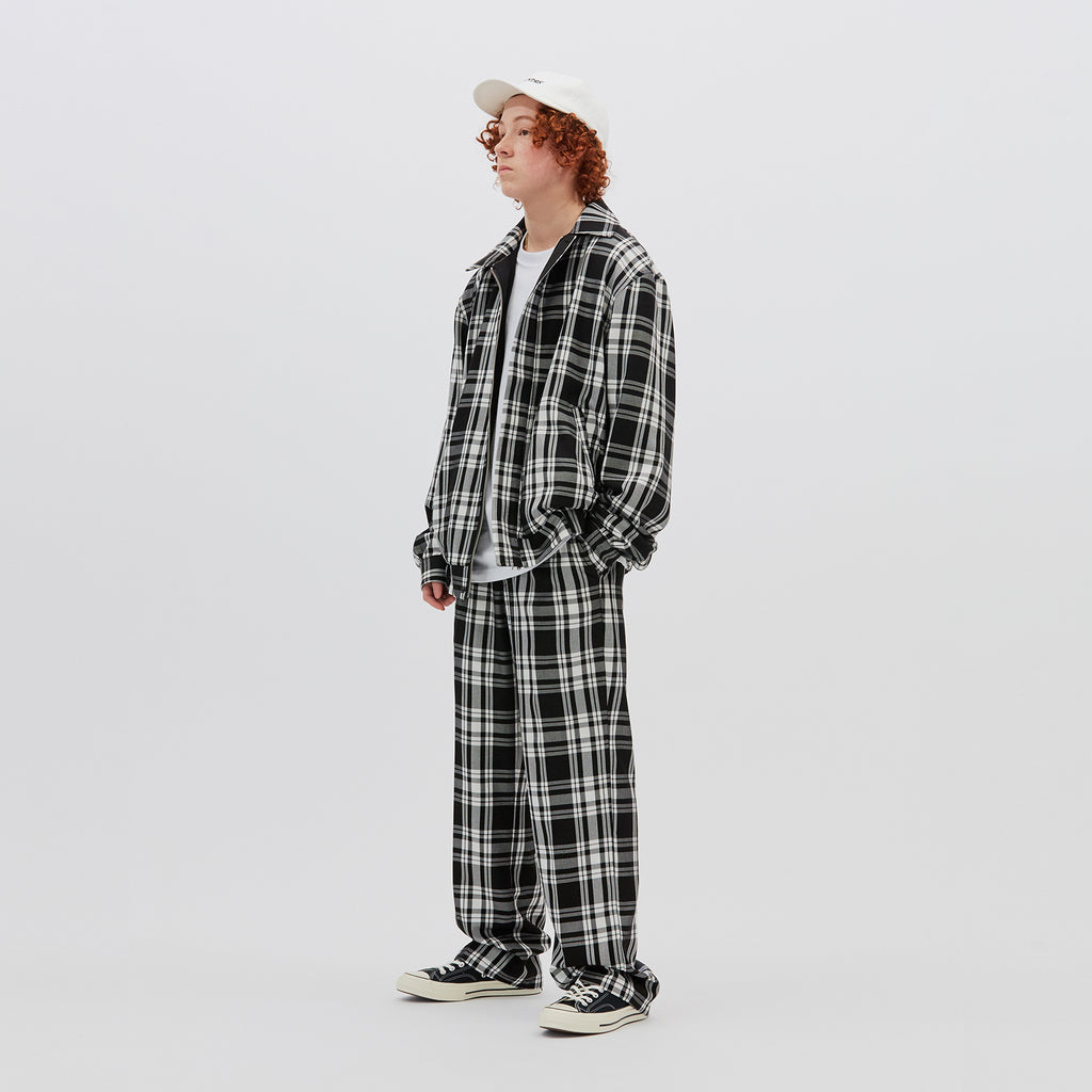 PLAID TROUSER (BLACK)