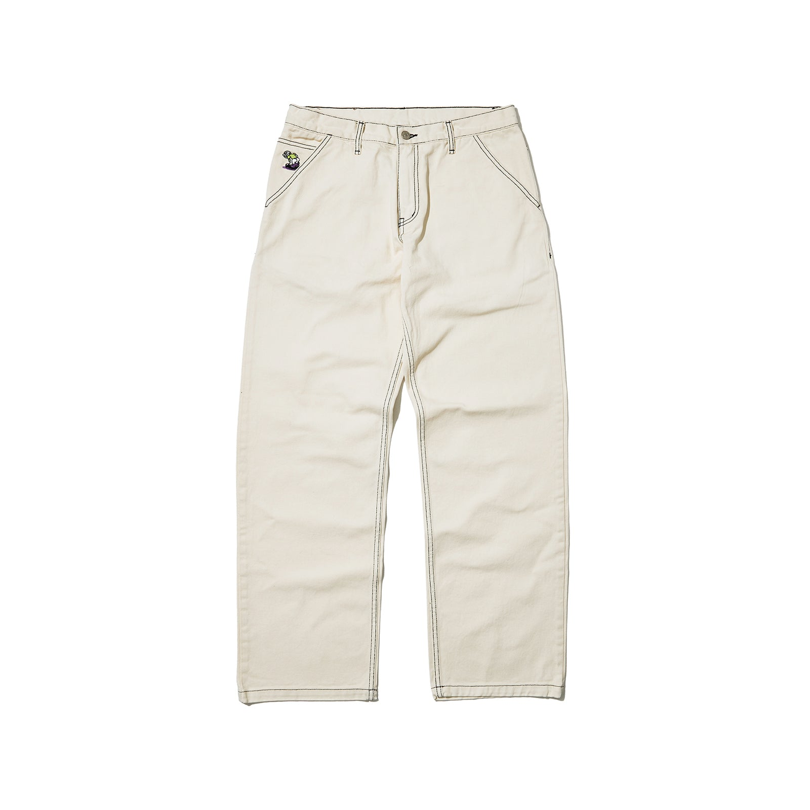 5-POCKET DENIM PANTS (WHITE)