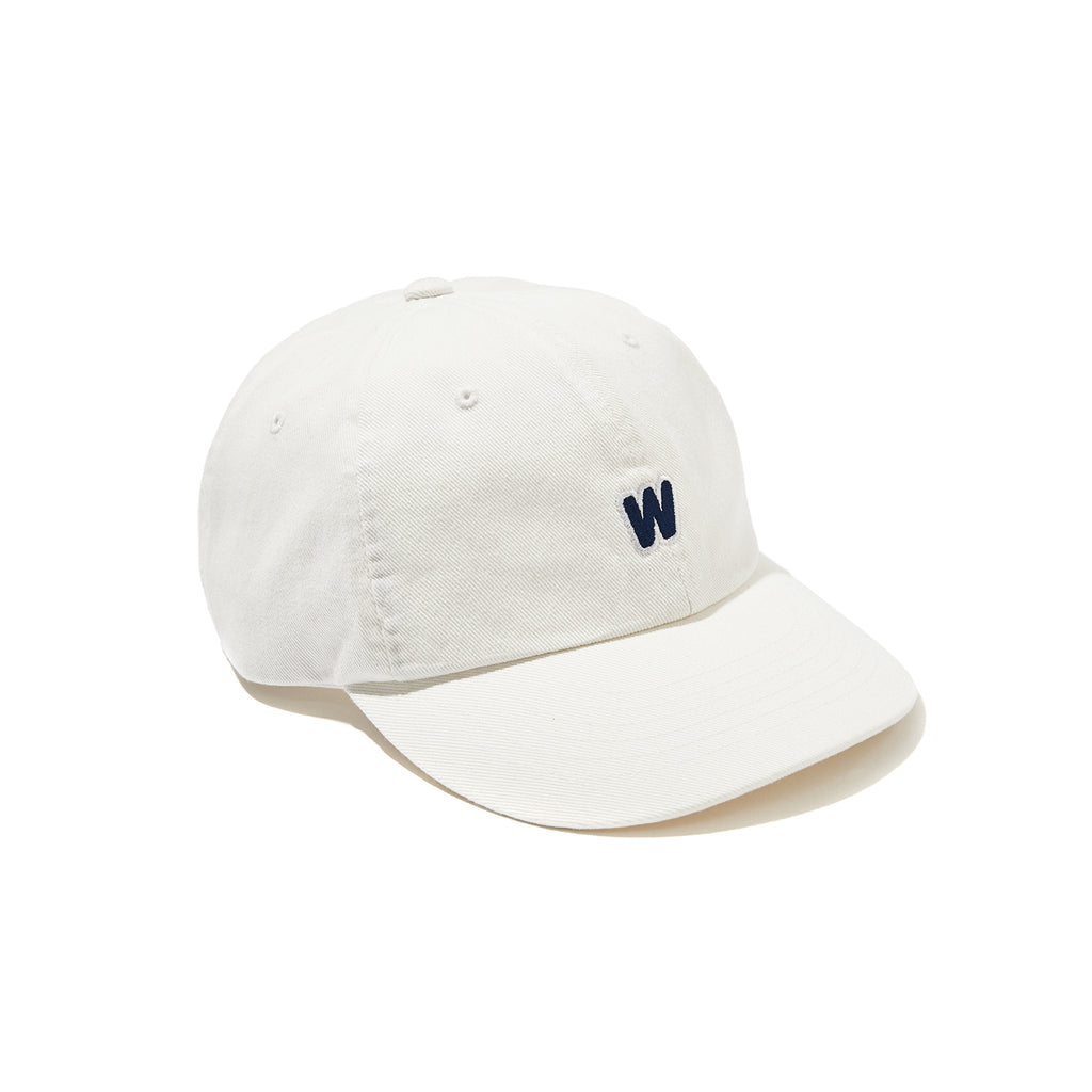 DISTRESSED DENIM CAP (WHITE)