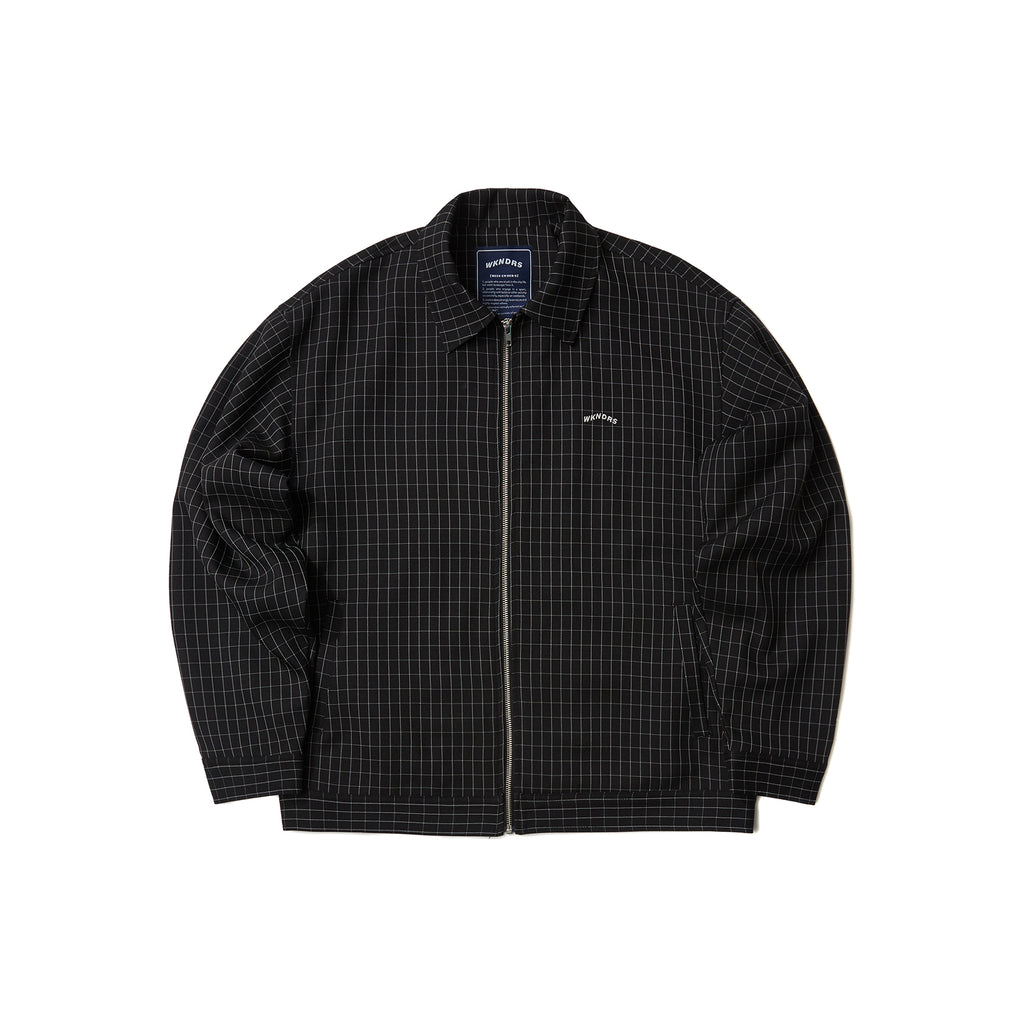 WINDOW CHECK JACKET (BLACK)