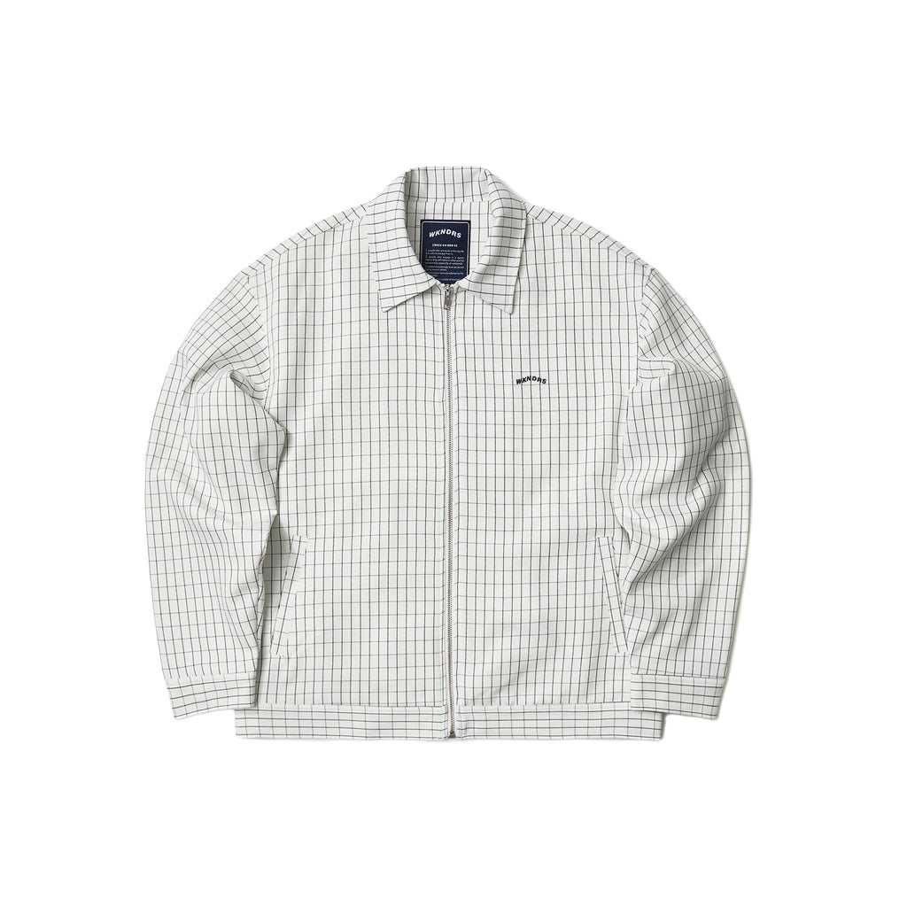 WINDOW CHECK JACKET (WHITE)