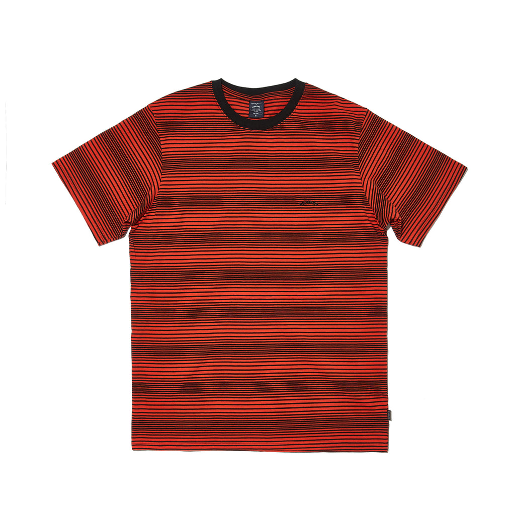 STRIPED WAVY SS T-SHIRT (ORANGE)