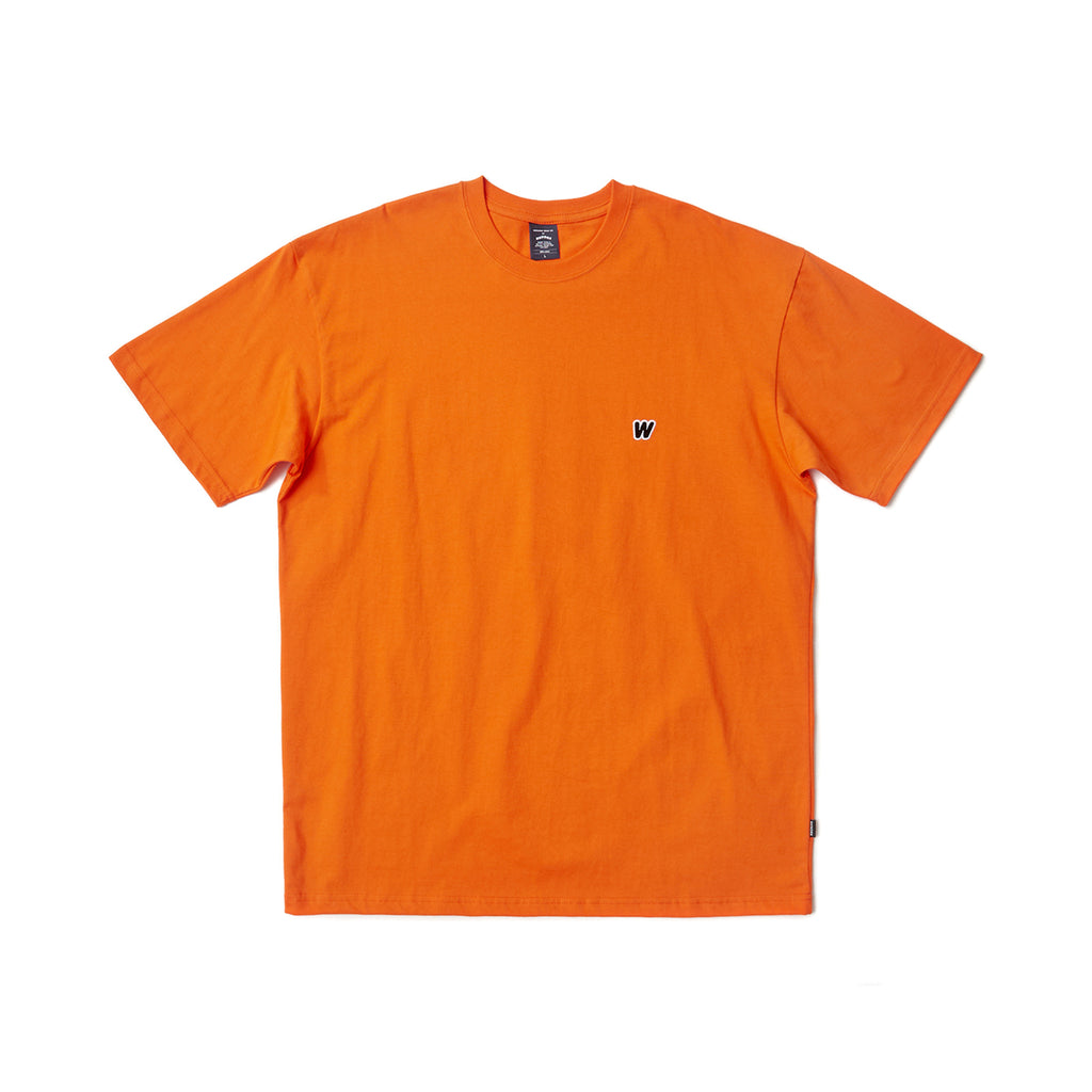W LOGO SS T-SHIRT (ORANGE)