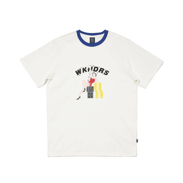 VEGAS GIRL SS T-SHIRT (BLUE)