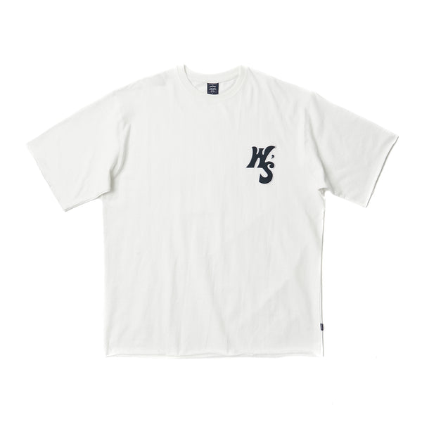 WS RAW EDGE SS T-SHIRT (WHITE)