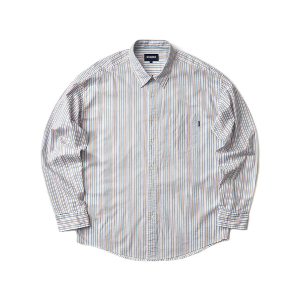 STRIPED STAR SHIRT (S.BLUE)