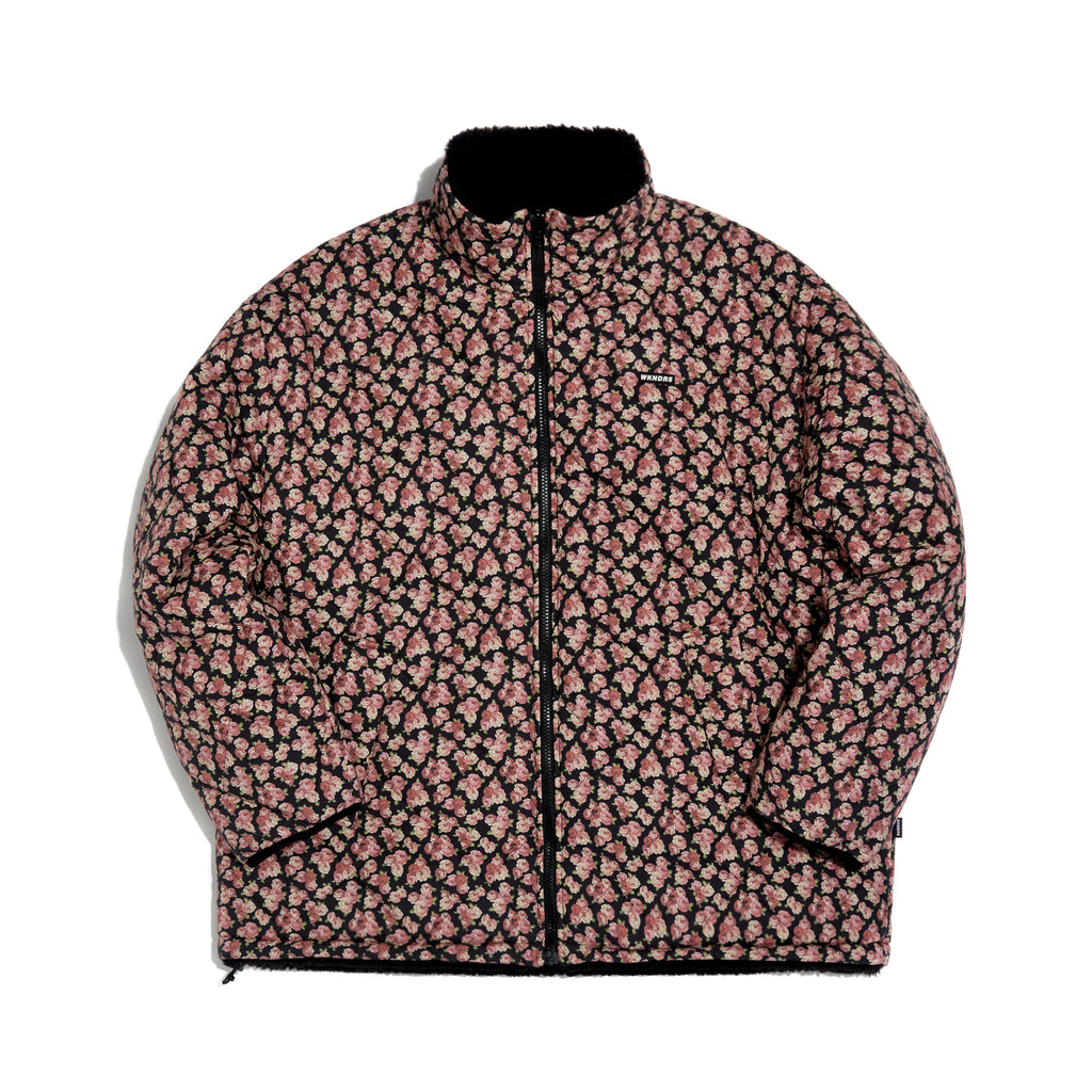 [AFTER 26.Oct SHIPPING] FLORAL REVERSIBLE JACKET (BLACK)