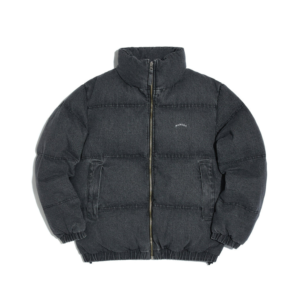 [AFTER 26.Oct SHIPPING] DENIM DOWN JACKET (BLACK)